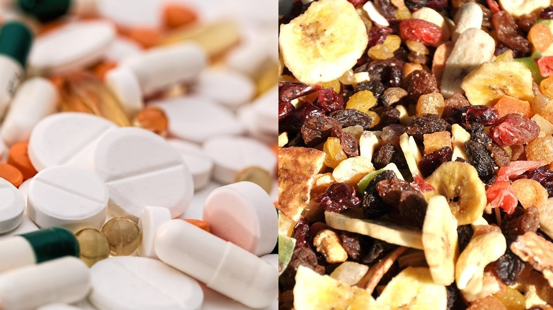 Dank Gefriertrocknung behalten z.B. Medikamente ihre Wirksamkeit, getrocknete Früchte ihre Aromen. Bildquelle: Steve Buissionne, Jeno Szabó (Pixabay)