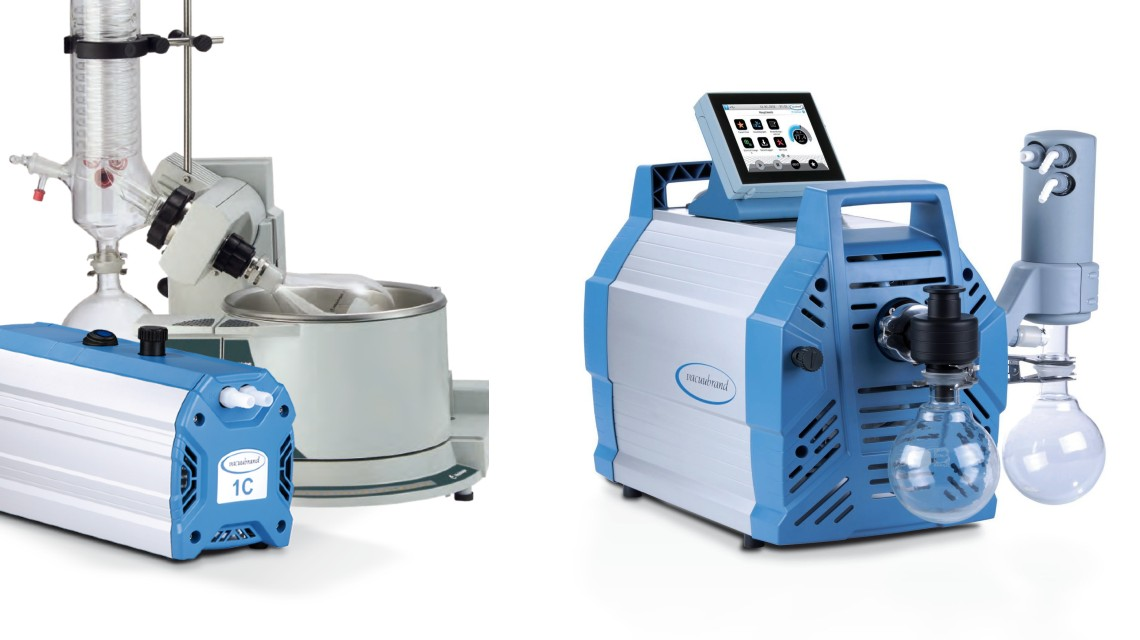Vakuumpumpen und -pumpstände für verschiedene Siedepunkte und Volumen