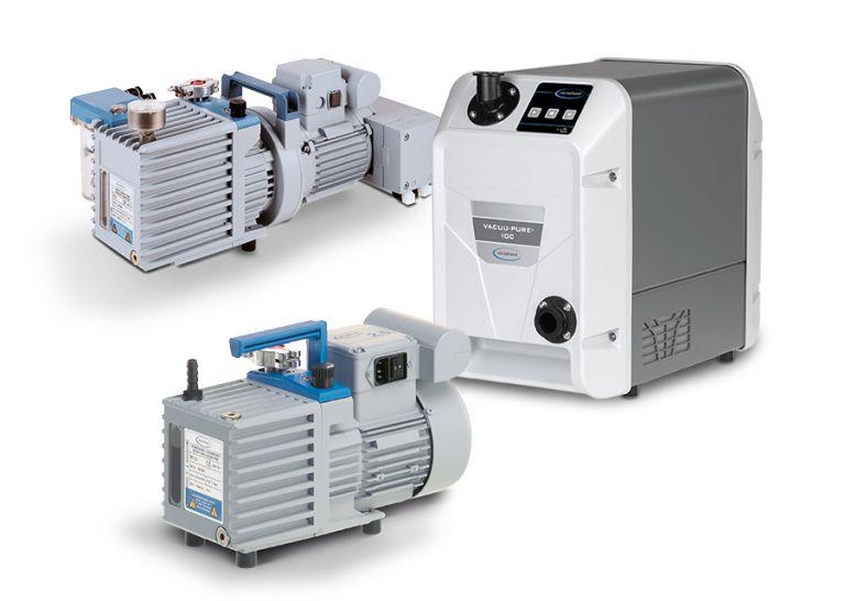 Verschiedene Vakuumpumpen können bei der Gefriertrocknung zum Einsatz kommen.