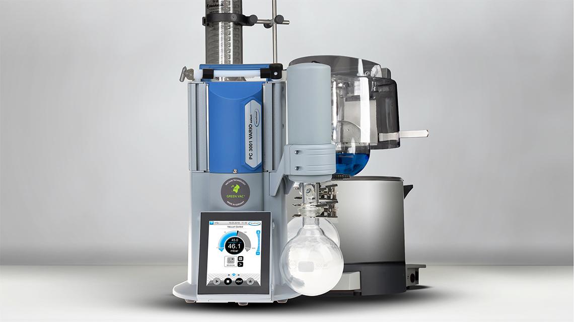 A vacuum control allows safe and efficient process control.