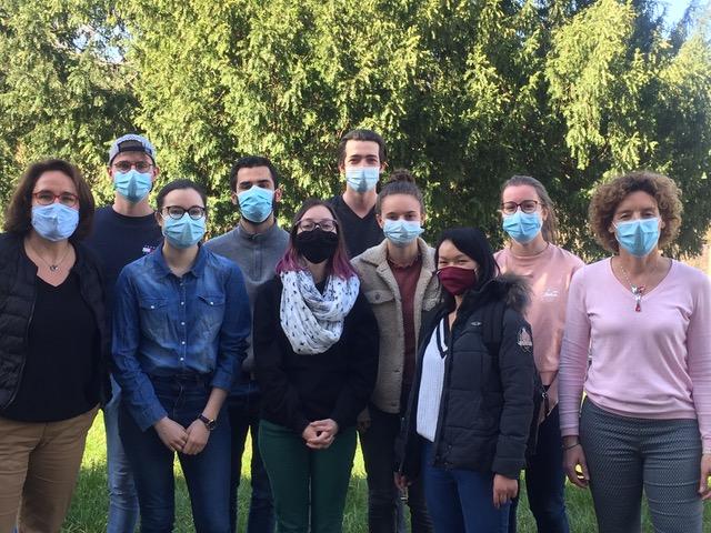 TeilnehmerInnen und Lehrende bei der Schulung für Vakuumtechnik von VACUUBRAND (Bildquelle: Universität Straßburg)