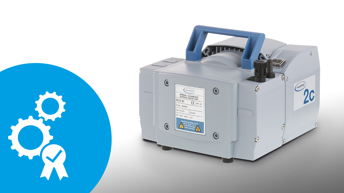The MZ 2C chemistry diaphragm pump stands for quality and durability.
