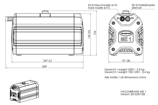 ME 1 - Dimension sheet