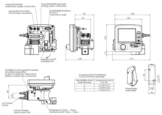 CVC 3000 detect - Dimension sheet