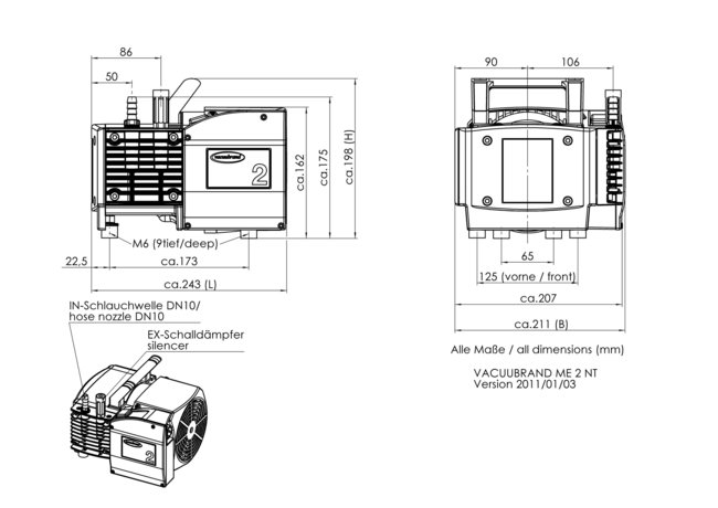 ME 2 NT - Dimension sheet