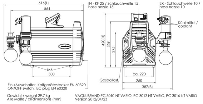PC 3016 NT VARIO - Plan de masse