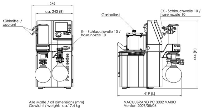 PC 3002 VARIO - Dimension sheet