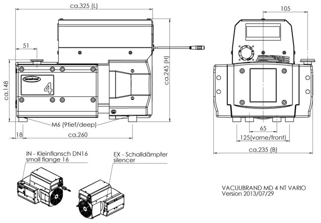 MD 4 NT VARIO - Dimension sheet