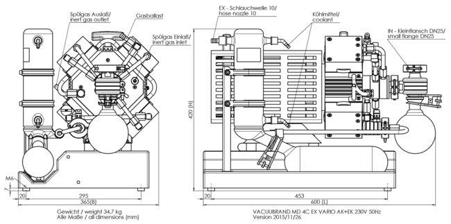 MD 4C EX VARIO +AK+EK - Dimension sheet