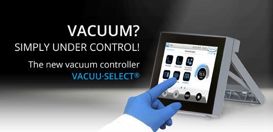 The new vacuum controller VACUU·SELECT