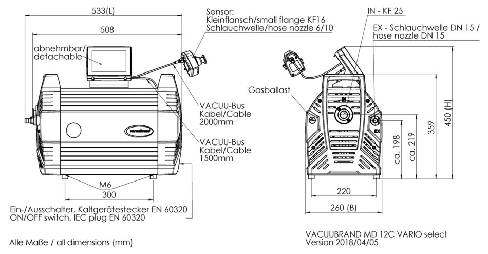 MD 12C VARIO select VARIO® chemistry pump - VACUUBRAND (EN)