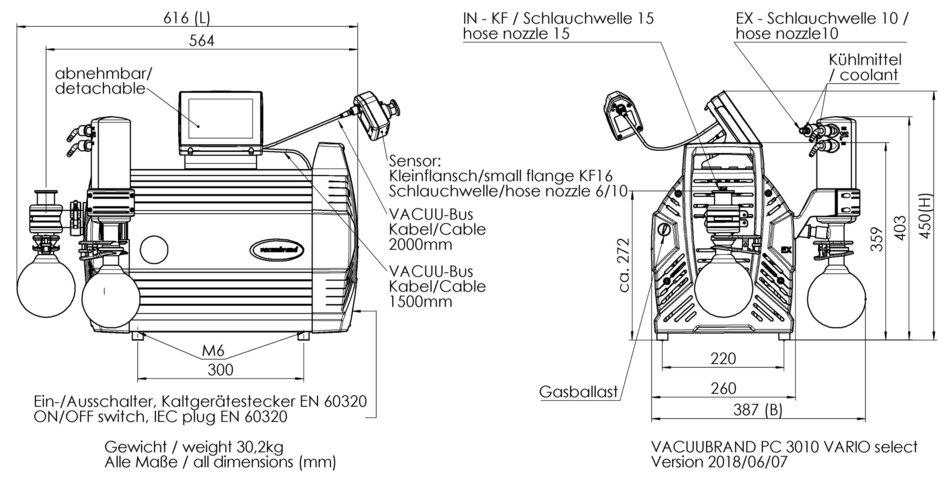 PC 3010 VARIO select VARIO® chemistry pump - VACUUBRAND (EN)