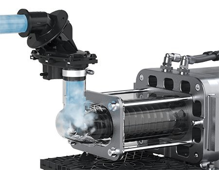 For VACUU-PURE the oil-free screw pump technology was developed further