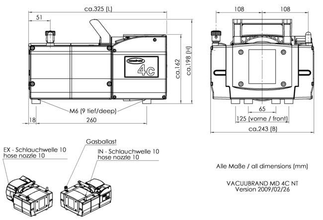 MD 4C NT - Dimension sheet