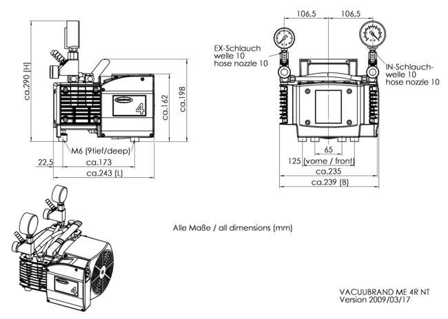 ME 4R NT - Dimension sheet