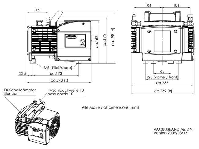 MZ 2 NT - Dimension sheet