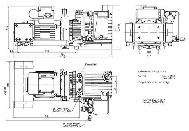 RC 6 - 尺寸规格表