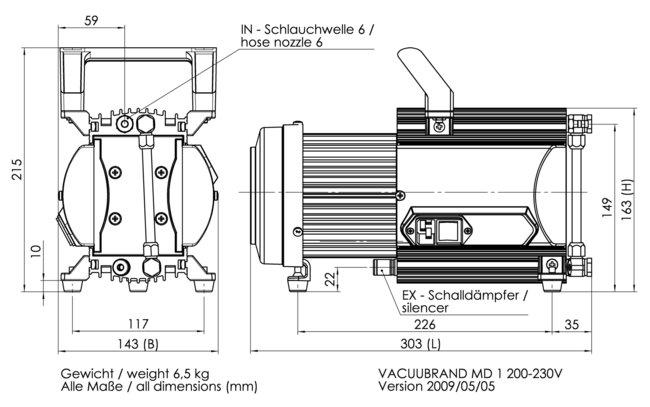 MD 1 - Dimension sheet